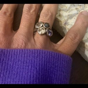Silpada Wine Flight Sterling Silver Ring